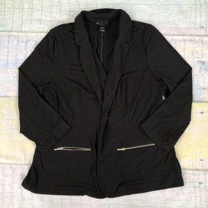 Lane Bryant Open Front Zipper Detail Blazer 18/20